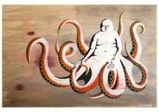 Artwork by Tesura entitled &quot;That octopus returned to the sea without being eaten&quot;
