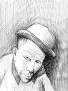 "Artwork by Tesura entitled ""Portrait of Tom Waits"""